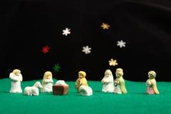 lantlig nativity Arkivbilder
