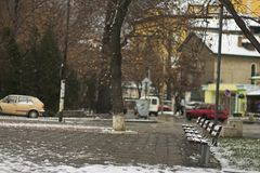 lantlig park Fotografering för Bildbyråer