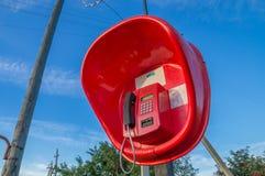 Lantlig payphone Fotografering för Bildbyråer