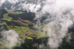 lantlig plats för basque land Arkivbild