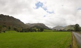 Lantlig plats i Borrowdale royaltyfria bilder