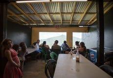 Lantlig restaurang i Puerto Rico Royaltyfri Foto