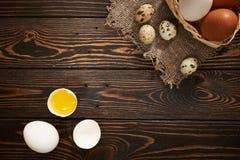 Lantlig sammansättning för blandade ägg Arkivfoton