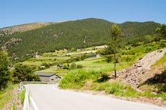 Lantlig sikt av Andorra royaltyfri foto