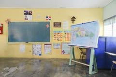 Lantlig skola i Dominikanska republiken Arkivbild