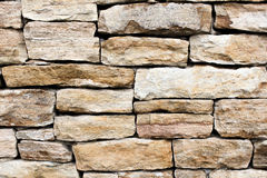 Lantlig stenvägg Arkivbilder