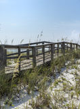Lantlig tappningstrandstrandpromenad i Florida Royaltyfria Bilder