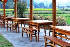 lantlig teahouse Royaltyfria Foton