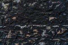 Lantlig tegelstenvägg för svart tappning - högkvalitativ textur/bakgrund royaltyfri fotografi