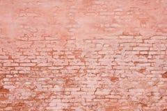 Lantlig tegelstenvägg som bakgrund Royaltyfri Foto