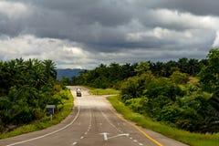 Lantlig thai väg Royaltyfri Foto