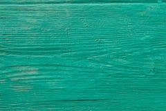 Lantlig träbakgrund för grön turkos Arkivfoton