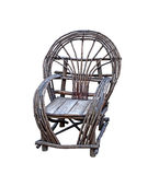 Lantlig träträdgårds- stol Arkivfoton