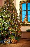 lantlig tree för jul Arkivbild