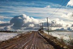 Lantlig väg. Royaltyfri Fotografi