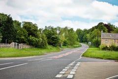 Lantlig väg Fotografering för Bildbyråer