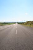 lantlig väg Arkivfoto