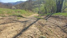 Lantlig väg för berg Arkivbild