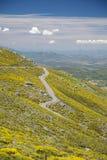 Lantlig väg för Gredos berg Royaltyfri Bild