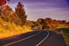 Lantlig väg i Australien Royaltyfri Foto
