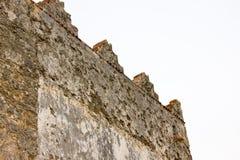 Lantlig vägg av ett gammalt hus Royaltyfria Bilder