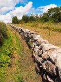 Lantlig vägg i Galicia Royaltyfri Bild