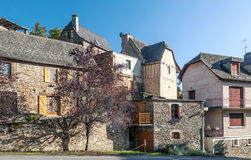 Lantliga hus i Frankrike Royaltyfri Foto