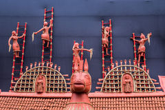 Lantliga indiska leragarneringar Arkivbild