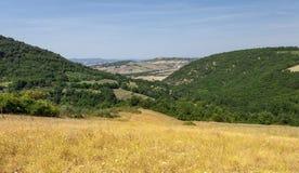 Lantliga landskap av härliga Tuscany, Italien Arkivfoto