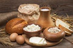 Lantliga naturliga organiska foods för bönder Fotografering för Bildbyråer