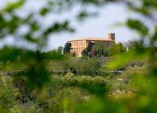Lantliga Tuscan landskap Arkivbild