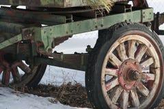 Lantliga vagnhjul Royaltyfria Foton