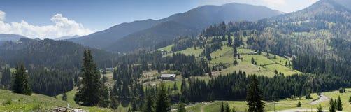 Lantligt Carpathian landskap Rumänien arkivbild