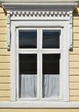 Lantligt fönster Arkivbilder