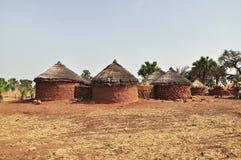 Lantligt hus i Afrika Royaltyfria Foton