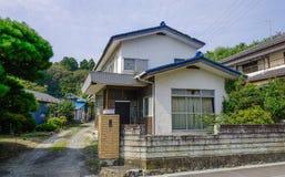 Lantligt hus i Matsushima, Japan royaltyfria bilder