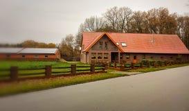 Lantligt hus i Tyskland Royaltyfria Bilder
