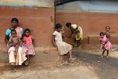 lantligt india armod Fotografering för Bildbyråer