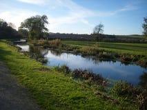 Lantligt kanallandskap 2 Arkivbilder