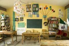 Lantligt klassrum Arkivbild