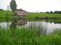 Lantligt landskap Fotografering för Bildbyråer