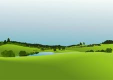 Lantligt landskap Arkivbild