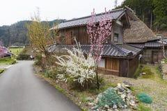 Lantligt landskap av Kyoto, Japan arkivfoton