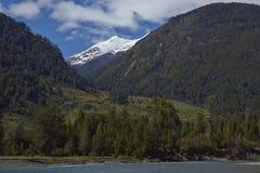 Lantligt landskap av Patagonia Fotografering för Bildbyråer