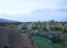 Lantligt landskap för Ãœrgà ¼ p av Cappadocia arkivfoto