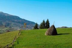 Lantligt landskap i bergen Arkivbilder