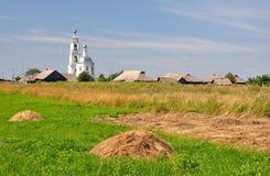 Lantligt landskap i centralen Ryssland Royaltyfria Foton