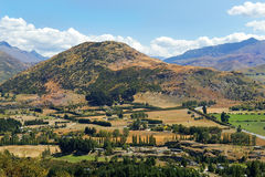 Lantligt landskap i Nya Zeeland Royaltyfria Foton