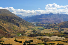 Lantligt landskap i Nya Zeeland Arkivbilder