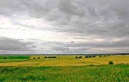Lantligt landskap nära Yaroslavl Royaltyfri Fotografi